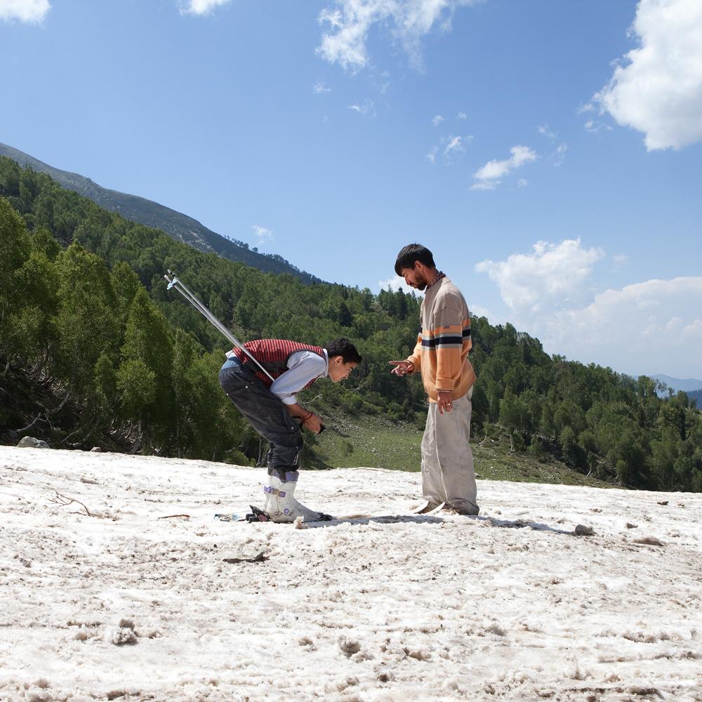 «Leçon» de ski sur le plateau de Kongdoori