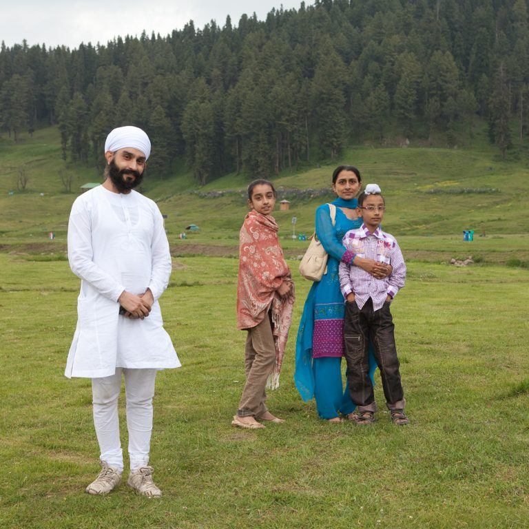Famille de touristes indiens
