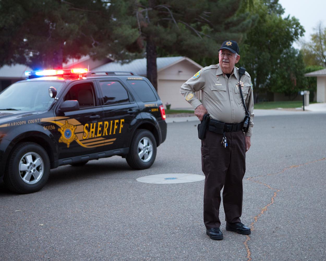 Al Cohen (83 ans) en patrouille, Sun City West