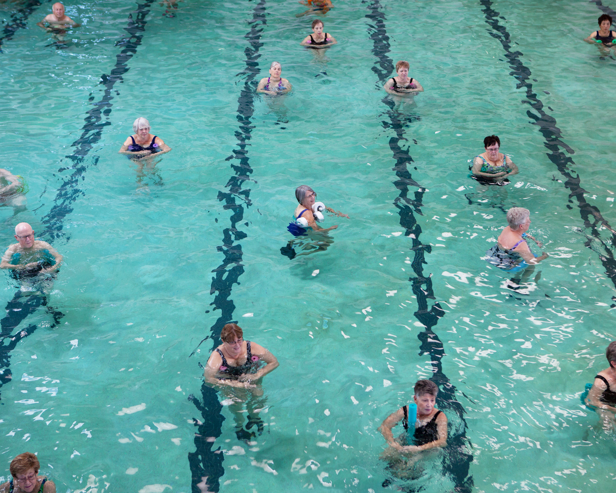Cours d'aquagym au Palm Ridge recreation center, Sun City West