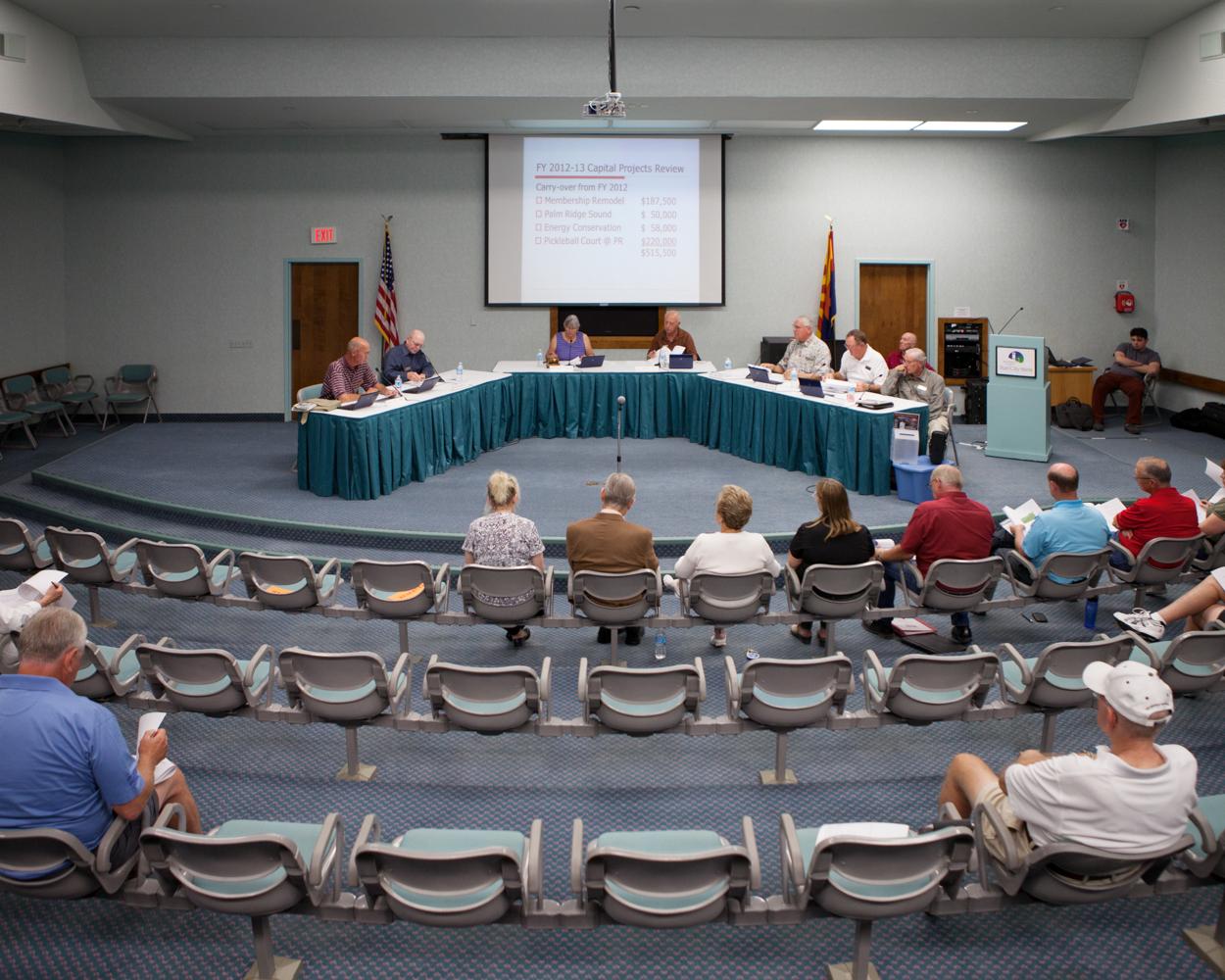 Session publique mensuelle du board, Sun City West